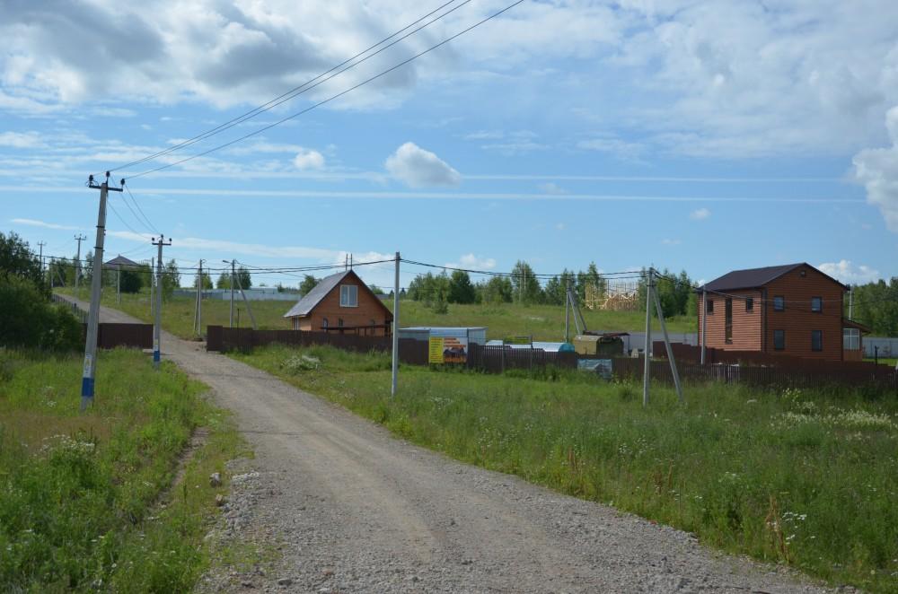 дорога в дачном поселении Шараповское