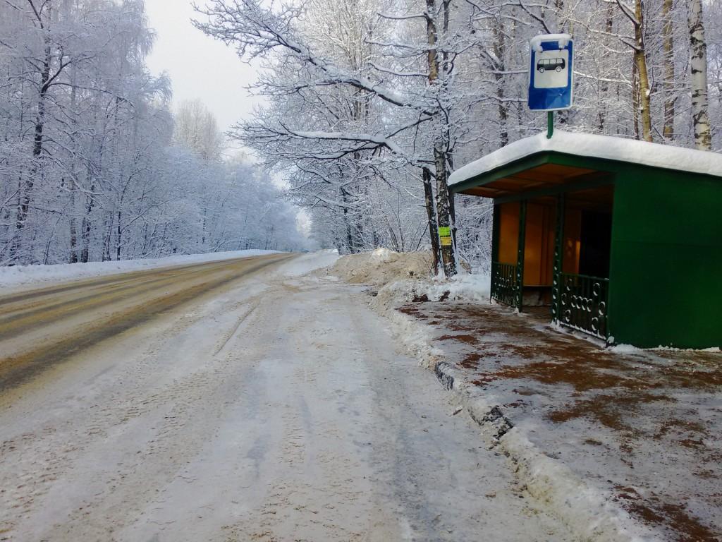 дорога к дачному поселку по Ярославке